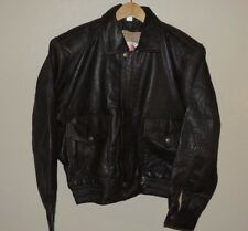 Superfortress B-2 Brown Leather Bomber Jacket Biker Style Mens Size Medium