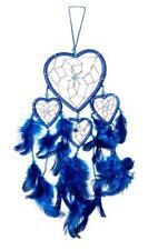 Großes Ca 40cm x 9cm Herz Dreamcatcher Traumfänger Blau