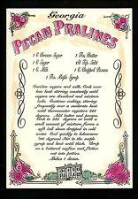 Recipe US postcard Georgia Pecan Pralines