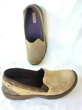 Crocs Brown Suede Leather Comfort Slip On Loafer Women's W9
