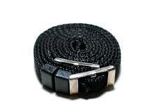 Schlichter Kameragurt / Tragegurt 10mm schwarz 116cm lang - neck strap (NEU)