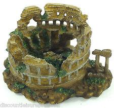 Acquario Colonna Romana Anfiteatro di Rovina Ornamento Vasca Decorazione #1863X