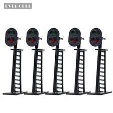 JTD05 5pcs Model Railway 2-Light Block Signal Green/Red N Scale 4cm 12V Led New