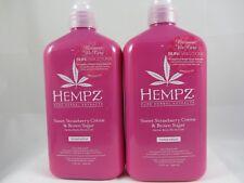Supre Hempz Sweet Strawberry Creme & Brown Sugar Moisturizer Lotion - 2 Pack