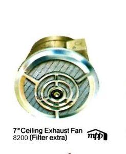 "NUTONE VINTAGE Mid Century EXHAUST FAN Vert Discharge Ceiling 7"" Round 8210 NEW"