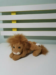 RUSS BERRIE RUGGLES LION BEANIE STUFFED ANIMAL 17CM LONG