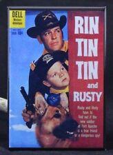 "Rin Tin Tin and Rusty #34 Dell Comic Book 2"" X 3"" Fridge / Locker Magnet."