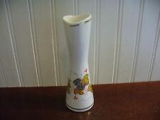 Vintage Recznie Malowane Poland Handpainted Porcelain Autumn Leaves Bud Vase