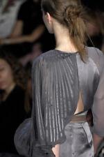 $358 BCBG MaxAzria Runway Agate Phantom Grey Silk Cocktail Bubble Dress SZ 0 XXS