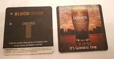 Guinness  - Its Guinness Time - Blood Water - Beer Mat  2009