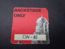 *               CROSBY,STILL & NASH  CONCERT TOUR BACKSTAGE PASS VINTAGE