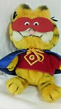 GARFIELD Super Hero Plush by Fun Farm by Dakin 1978 - 1981 Cape Mask & Shirt