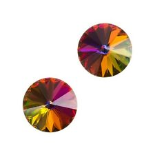 Genuine Swarovski 1122 Rivoli Stones Crystal Volcano 12mm Pack of 2 (E99/39)