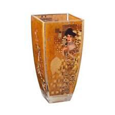 Gustav Klimt Glass Vase Adele Bloch Bauer H.23cm 11x11cm With Gold Decor GOEBEL