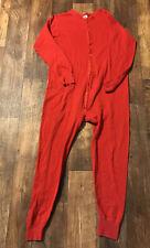 Vintage Sports Afield Union Suit Long Johns Underwear Thermal 42-44 L Butt Flap