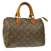 86f56fe49 AUTHENTIC LOUIS VUITTON SPEEDY 25 HAND BAG MONOGRAM CANVAS LEATHER M41528  V30908