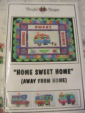 "HOME SWEET HOME (away from home)~Trailer quilt patterns 16 x 12""~4 different 1's"