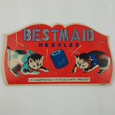 Bestmaid Needles 100 Assorted Gold Eye Needles Vintage Set - Not Complete
