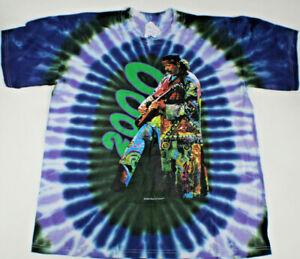 Santana 1999-2000 River Of Colors Rock Band Vintage Tie Dye Large T Shirt