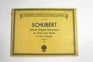 Piano Sheet Music Schirmer's Library Schubert Selected Original Compositions