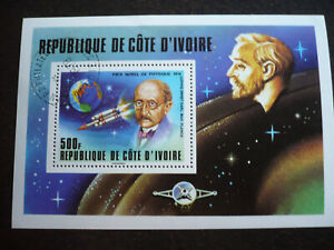 Stamps - Ivory Coast - Scott# 465 - Souvenir Sheet