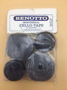 NOS Vintage Benotto Gray Road Bike Handlebar Tape with Plugs