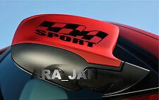 SPORT flag Vinyl Decal racing sticker emblem speed car mirror logo color BLACK