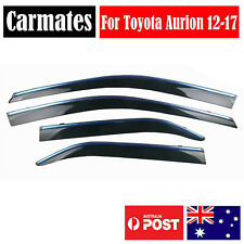 Window Weather Shield Visor For Toyota Aurion 12-17 4 Doors double sided tape
