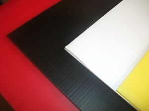 10 sheets of A1 fluted plastic corex board for out door signage and display
