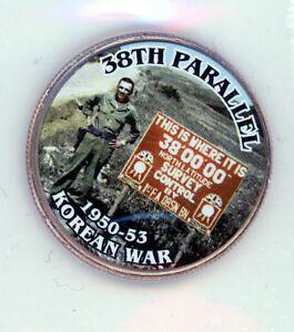 2017 Kennedy Half Dollar painted Obverse 38th Parallel Korean War MINT
