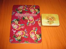Große Blechdose,Wings of Wonders Blumenmotiv + kleine Blechdose Blumenmotiv Rose