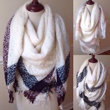 Women's Blanket Scarf Oversized Extra Thick Tartan Wrap XL Square Shawl Pashmina