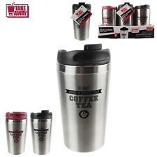 Lot de 2 Mug 350 ml Thermos Américain Isotherme Double Paroi Inox 2 couleur