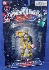 "Power Rangers SPD Sound Patrol YELLOW Ranger New 5"" 2005 Factory Sealed"