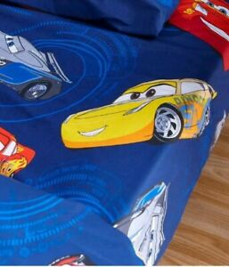 Disney Pixar Cars Fitted Sheet  Bedding Kids Bed Material cotton mix cotbed