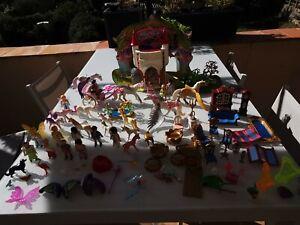 enorme Lot de playmobil princesse fée fantasy pégases et licornes