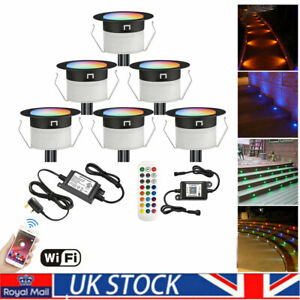 WiFi Decking Lights RGBW Ø45MM 12V RGB+WW IP67 LED Deck Lights Path Steps Yard