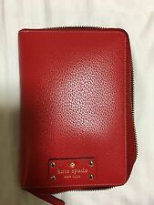 Kate Spade Wellesley Personal Agenda Gold Dots Rare HTF Pillar box Red pillarbox