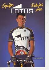 CYCLISME  carte cycliste BRUNO BOSCARDIN équipe RELOJES LOTUS 1996