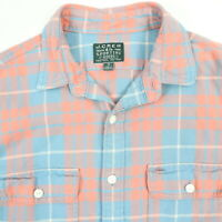 J CREW Sporting Goods Heritage Flannel Work Shirt Mens SMALL Pastel Plaid Chore