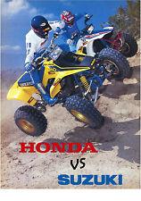 Honda TRX 250r vs Suzuki LT250r quadracer 18 x 24 poster    TRX250r TRX 250r