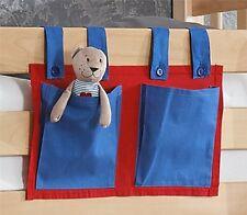 Stofftasche Seitentasche Betttasche für Hochbett Spielbett blau rot