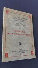 Sciences Physique Principes de la théorie restreinte par Augustin Sesmat