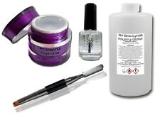 Poly Acryl Gel Starter Set Acrylgel System Clear Liquid Primer Pinsel Uv Led