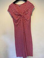 White Stuff Size 14 Pink White Striped Dress Kneelength