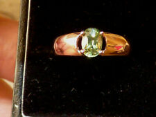 Natural Green Sapphire Solitaire Ring