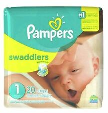 Pampers Swaddlers Diapers 20 Count Size 1 Blankie Soft 8 to 14lbs Newborn