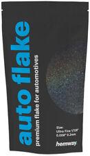 "Hemway Black Holographic Metal Flake Auto Car Bike Glitter Paint .008"" 0.2mm 50g"