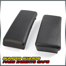 For Ford F150 Front Bumper Guards Inserts Caps Pads LH + RH 09 - 14 Auto Black