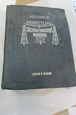 1939 RIDER PERPETUAL RADIO TUBE~CHASSIS SERVICE~REPAIR MANUAL VOL X~10~SCHEMATIC